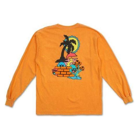 Picture of PARADISE LOGO L/S TEE Orange