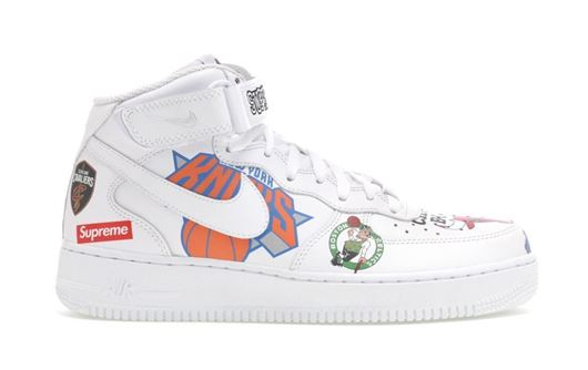 Picture of Air Force 1 Mid Supreme NBA White