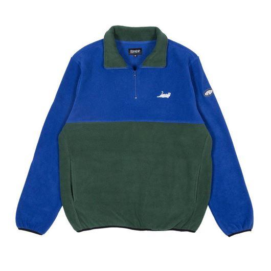 Picture of Castanza Fleece Half Zip Jacket Navy / Hunter Green
