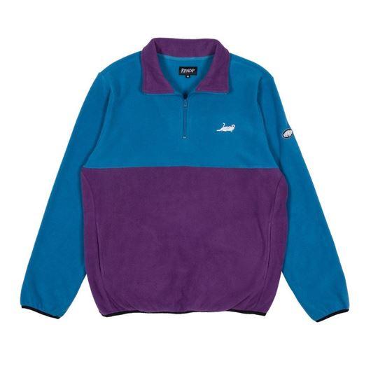 Picture of Castanza Fleece Half Zip Jacket Baby Blue / Lavender
