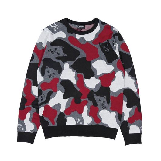 Picture of Nermcamo Knit Sweater Red Camo