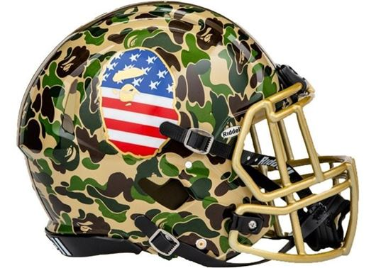 Picture of BAPE x adidas Riddell Helmet Green