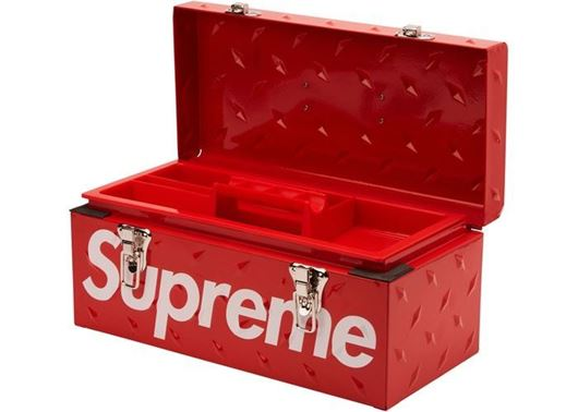 Picture of Supreme Diamond Plate Tool Box Red