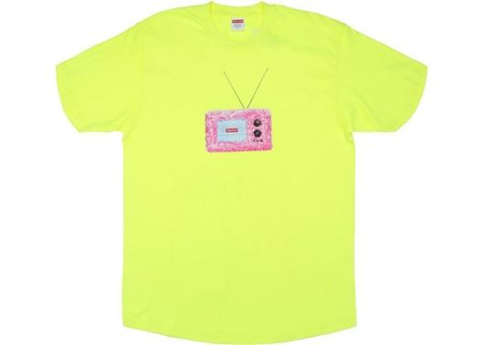 Picture of Supreme TV Tee Bright Yellow