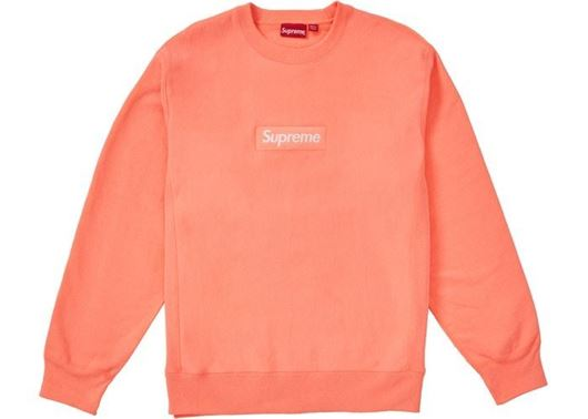 Picture of Supreme Box Logo Crewneck (FW18) Fluorescent Pink