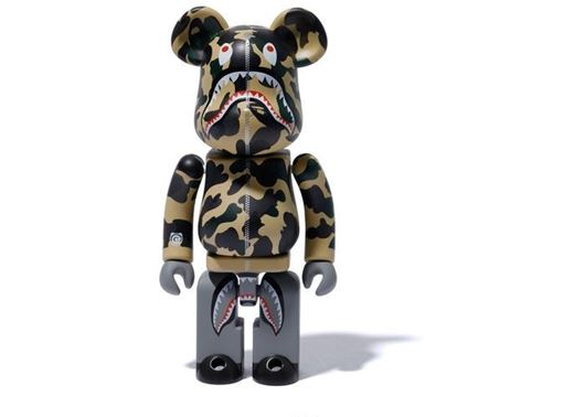Picture of BAPE x Medicom 1st Camo Shark Superalloy Chogokin 200% Bearbrick Yellow