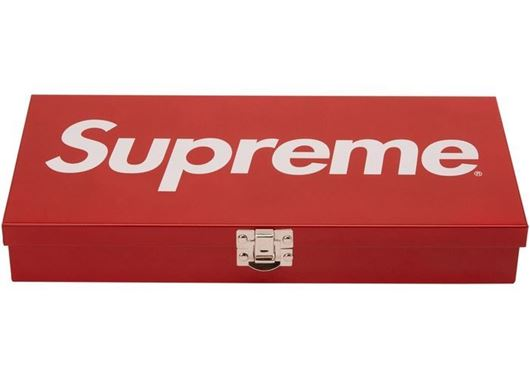 Picture of Supreme Large Metal Storage Box Red