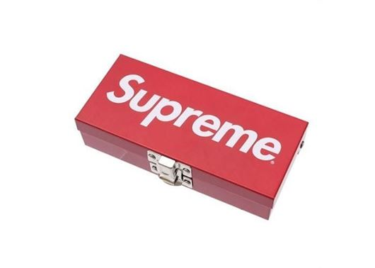 Picture of Supreme Small Metal Storage Box Red