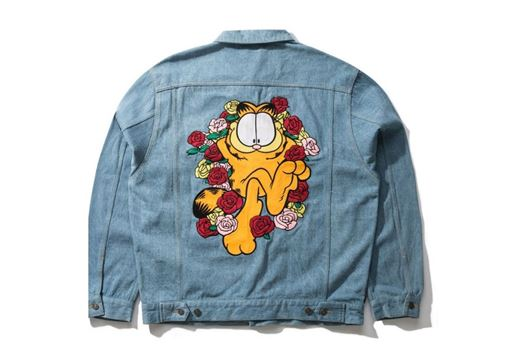 Picture of Garfield Roses Denim Jacket Light Wash
