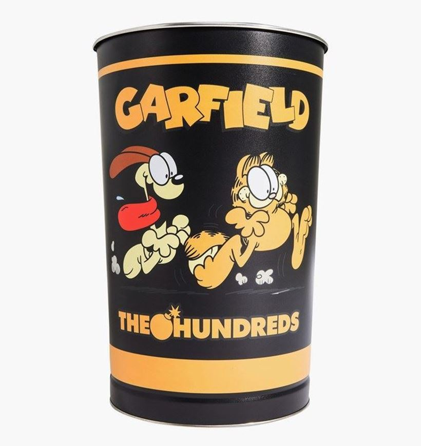 Picture of Garfield Tin Trash Can Black