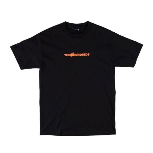 Picture of Bar Logo Embroidery T-shirt Black