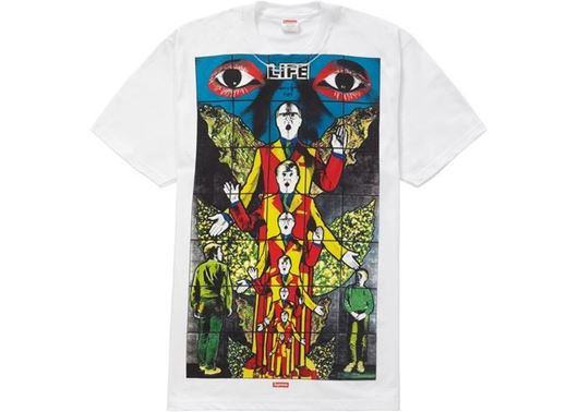 Picture of Supreme Gilbert & George LIFE Tee White