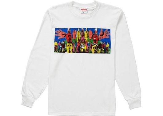 Picture of Supreme Gilbert & George DEATH AFTER LIFE L/S Tee White