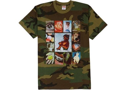 Picture of Supreme Original Sin Tee Woodland Camo