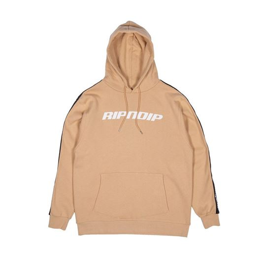 Picture of Taped Hoodie Tan