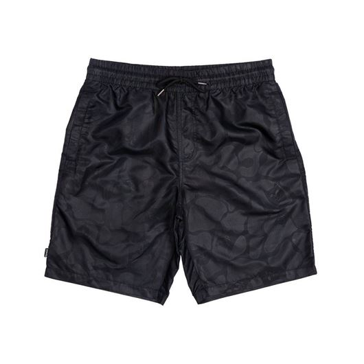 Picture of Black Out Nylon Shorts Black