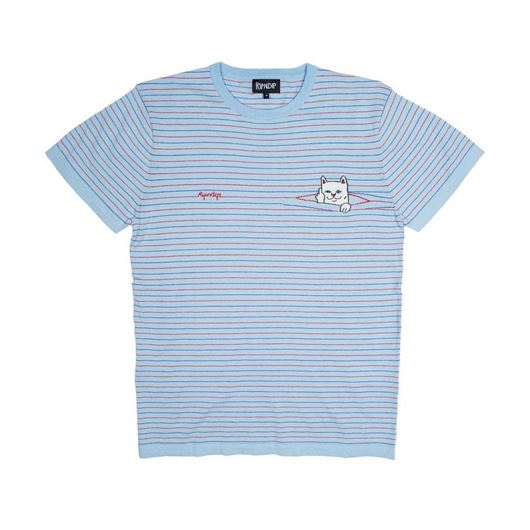 Picture of Peeking Nermal Knit Tee Baby Blue / Red