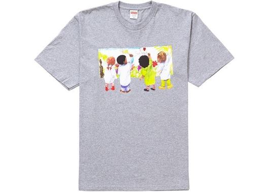 Picture of Supreme Kids Tee Heather Grey