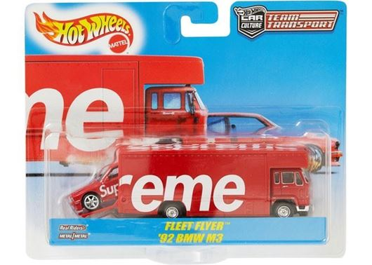Picture of Supreme Hot Wheels Fleet Flyer + 1992 BMW M3 Red