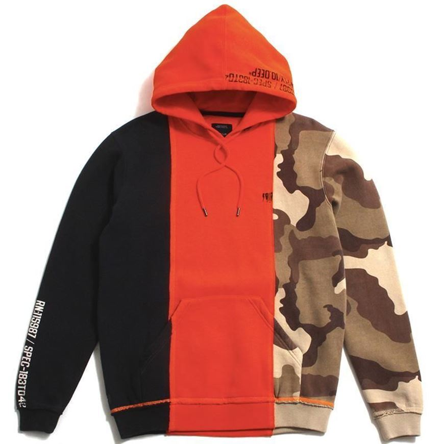 Picture of MANY WARS HOODIE NEON ORANGE