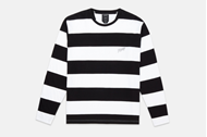 Picture of S&F STRIPE L/S Black