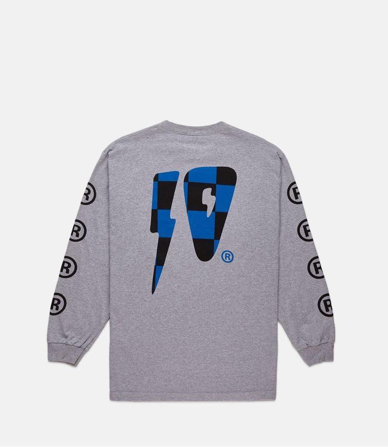 Picture of 10 STRIKES L/S TEE HEATHER GREY