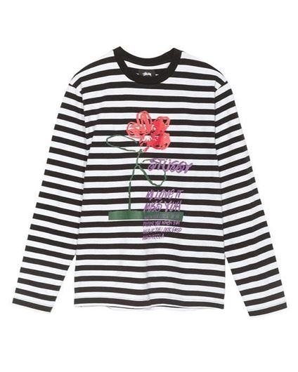 Picture of FLOWER STRIPE LS CREW