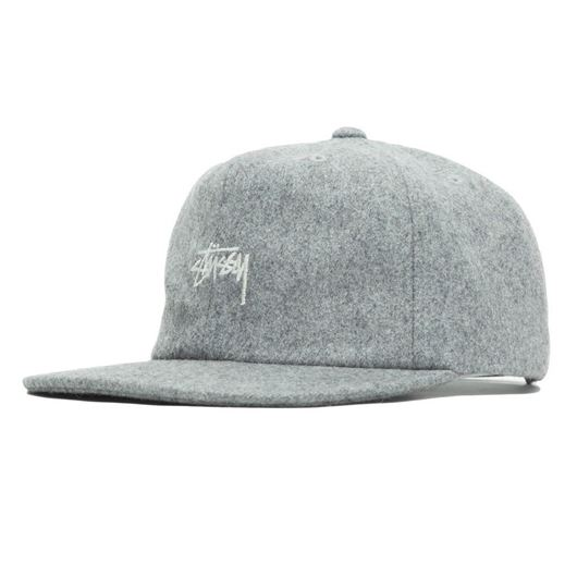 Picture of MELTON WOOL STRAPBACK CAP Grey