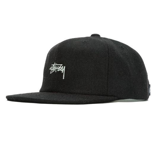 Picture of MELTON WOOL STRAPBACK CAP Black