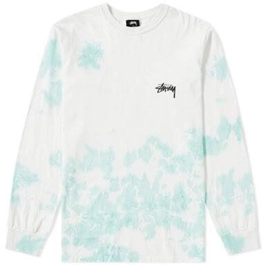 Picture of SMALL STOCK TD LS TEE NATURAL/BLUE