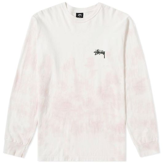 Picture of SMALL STOCK TD LS TEE NATURAL/PINK