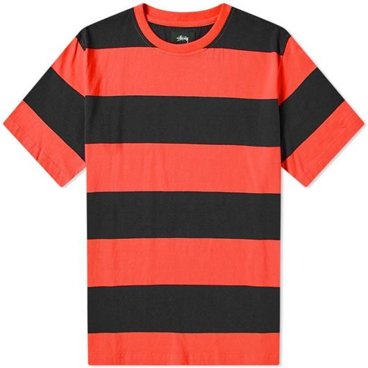 Picture of BOLD STRIPE CREW Red