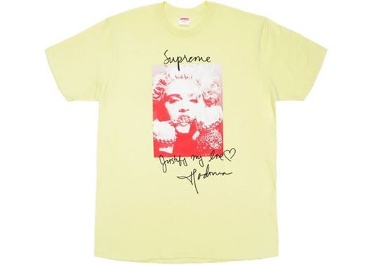 Picture of Supreme Madonna Tee Pale Yellow