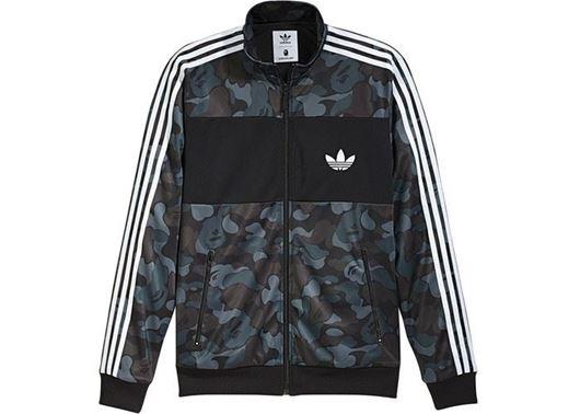 Picture of BAPE X adidas ABC Camo Track Jacket Black
