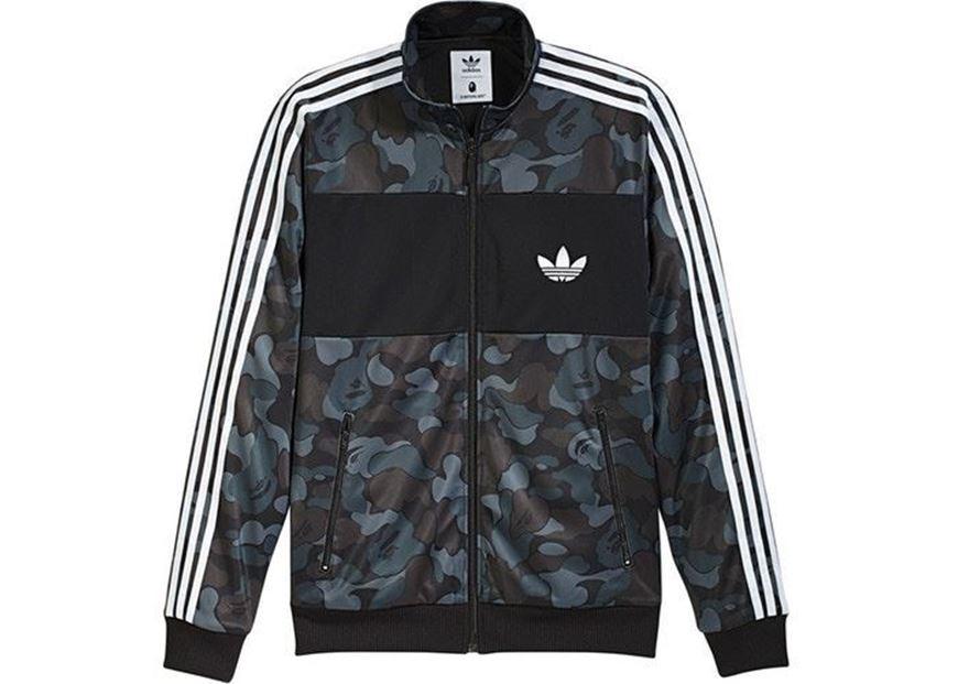 san francisco 55408 f46b1 BAPE X adidas ABC Camo Track Jacket Black