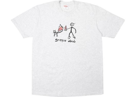 Picture of Supreme Spitfire Cat T-Shirt Ash