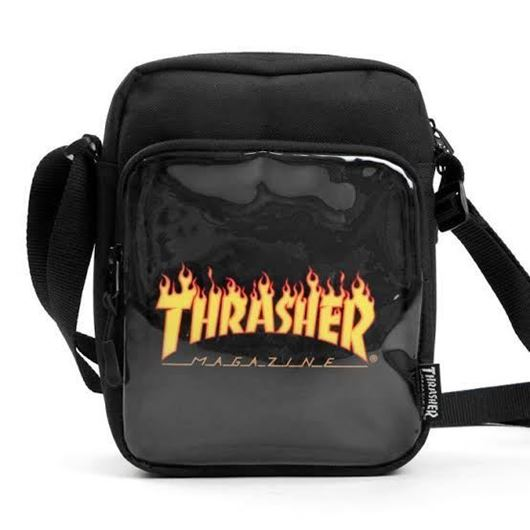 Picture of FLAME CLEAR SHOULDER BAG Black