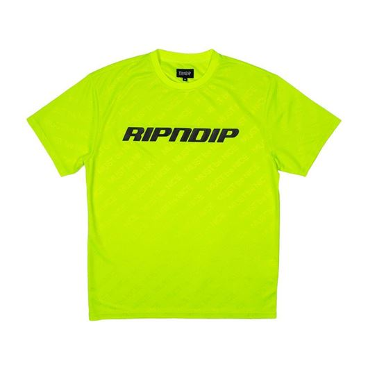 Picture of MBN Stripe Soccer Jersey Neon