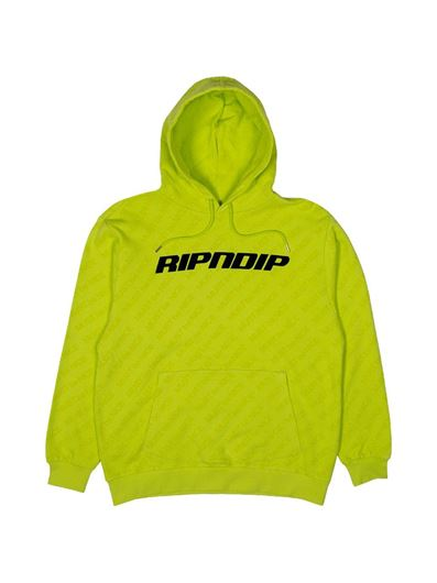 Picture of MBN Stripe Hoodie Neon