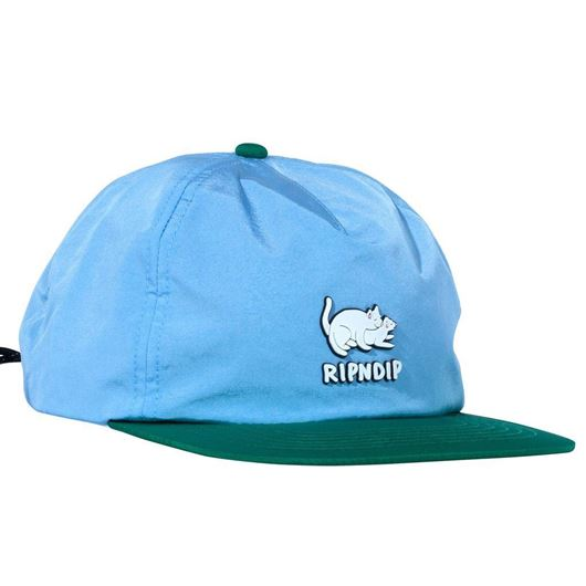 Picture of Two Nerms Poly 5 Panel Rope Hat Blue/Green
