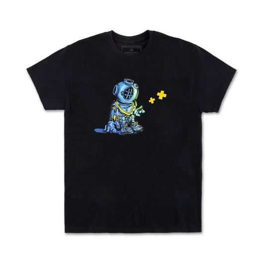 Picture of DEEP THOUGHTS TEE Black