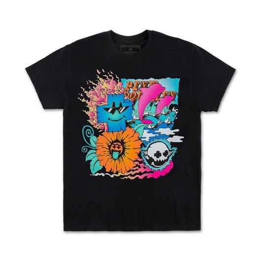 Picture of COLLAGE TEE Black