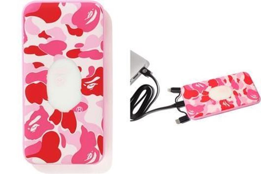 Picture of BAPE 10000 mAh ABC Power Bank Pink
