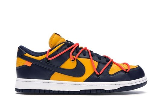Picture of Nike Dunk Low Off-White University Gold Midnight Navy