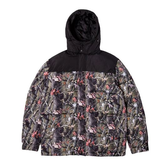 Picture of Nerm & Jerm Tee Camo Puffer Jacket Black