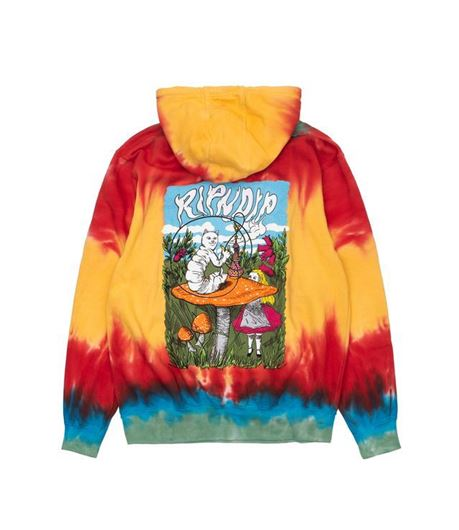 Picture of Nerm In Wonderland Hoodie Sunburst Spiral Dye