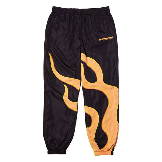 Picture of Flaming Hot Track Pants Black
