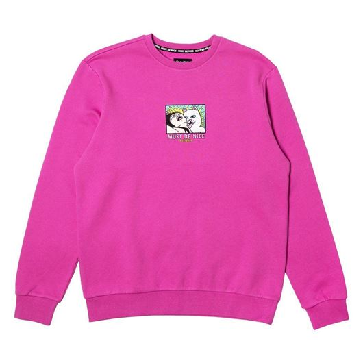 Picture of Lady Friend Crewneck Fuchsia