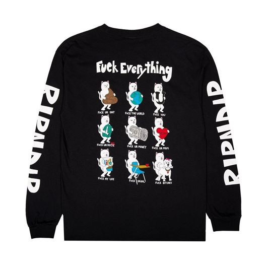 Picture of Fuck Everything LS Black