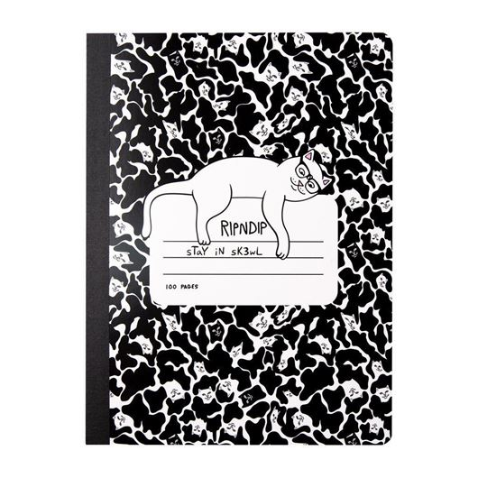 Picture of Stay In Sk3wl Composition Notebook Black